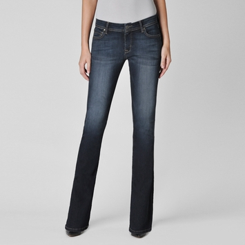 Fidelity Denim Mid Rise Slim Boot Cut Jean in Lumina Dark Denim