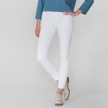 Fidelity Denim Sola High Rise Ankle Slim Jean in Zen White Denim