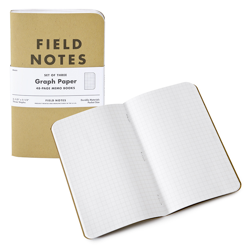 Field Notes Pocket Graph Notebook Set Of   X  Eco Paper