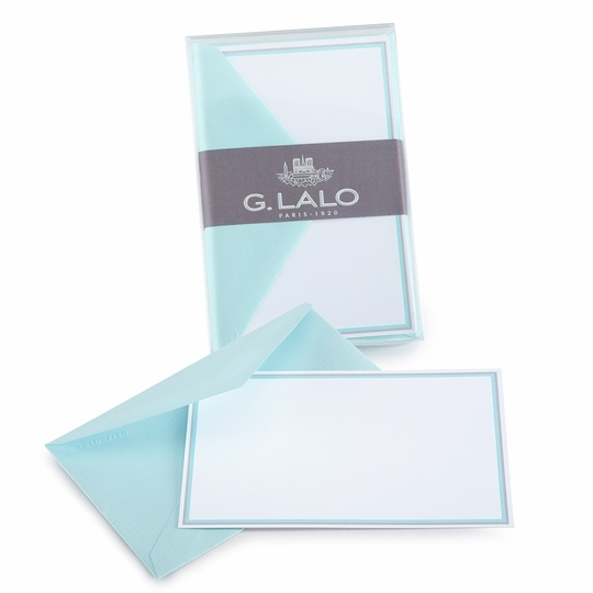 G. Lalo Double Bordered Correspondence Sets (3.25 x 5.25) ( Lagoon )