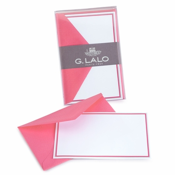 G. Lalo Double Bordered Correspondence Sets (3.25 x 5.25) in Fuschsia