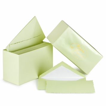G. Lalo Mode de Paris Boxed Stationery (3.75 x 6) in Pistachio