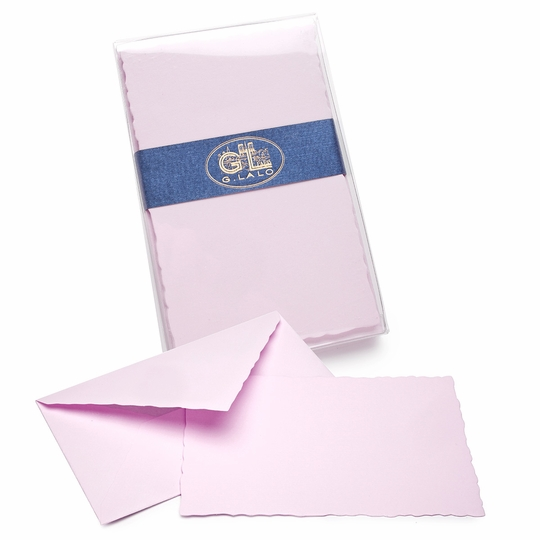 G. Lalo Verge de France Deckled-Edge Correspondence Sets (3.75 x 6) ( Lavender )