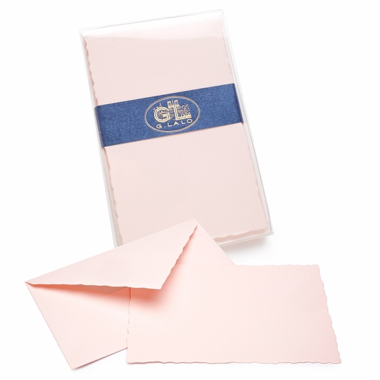G. Lalo Verge de France Deckled-Edge Correspondence Sets (3.75 x 6) ( Rose )