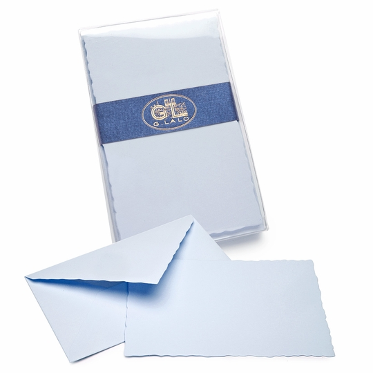 G. Lalo Verge de France Deckled-Edge Correspondence Sets (3.75 x 6) ( Blue )