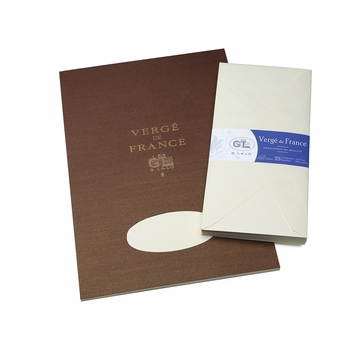 G. Lalo Verge De France Large Tablet and Envelope Set (8.25 x 11.75) in Ivory