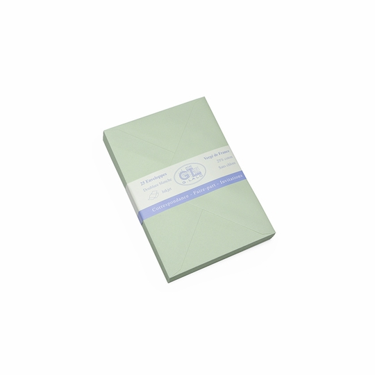 G. Lalo Verge de France Medium Envelopes (4.5 x 6.25) ( Pistachio )
