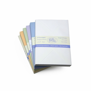G. Lalo Verge de France Medium Envelopes (4.5 x 6.25) in Blue