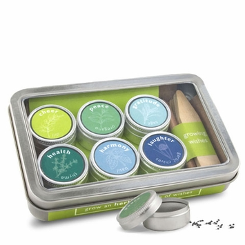 Growing Wishes Garden Kit in Cheer (Organic Herb Collection)