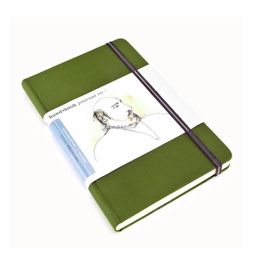 Hand-Book Travelogue Large Portrait Sketchbook (8.25 x 5.5) in Cadmium Green
