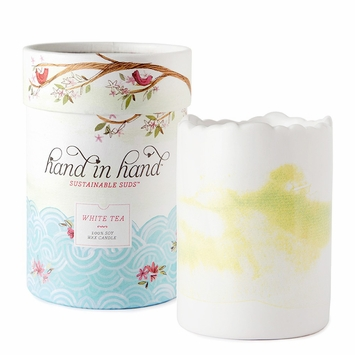 Hand in Hand Soy Wax & Essential Oil Candle in White Tea