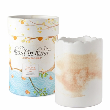 Hand in Hand Soy Wax & Essential Oil Candle in Orange Blossom