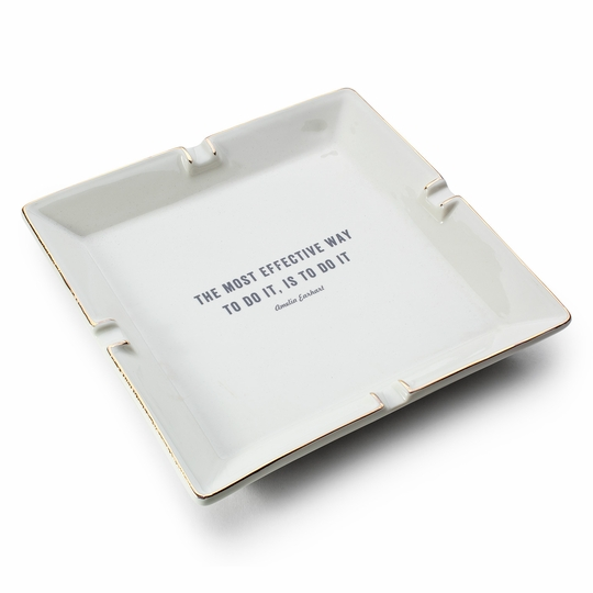 Izola Ceramic Catchall ( Earhart Quote )