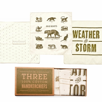 Izola Vintage Handkerchiefs in Forest