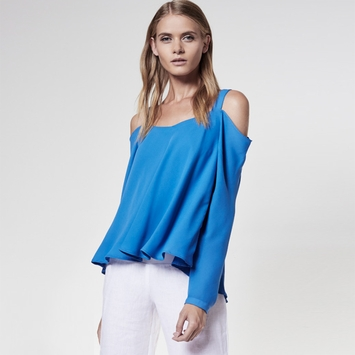 Krisa Off Shoulder Blouse in Fountain