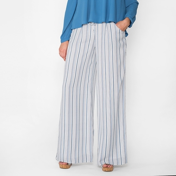 Krisa Stripe Wide Leg Pant in Monaco Stripe