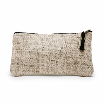 Hemp Lama Li Eco Hemp Pencil Bag (4 x 8) in Natural