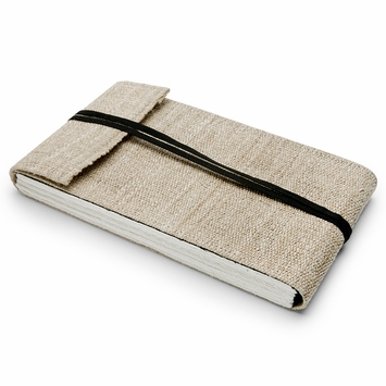 Hemp Lama Li Extra Large Hemp Notebook (6.25 x 11) in Natural