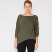 Lanston 3/4 Sleeve Asymmetrical Tunic