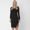 Lanston Long Sleeve Asymmetrical Dress