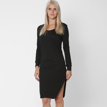 Lanston Long Sleeve Asymmetrical Dress in Black