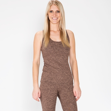Lanston Sport String Back Tank in Sand