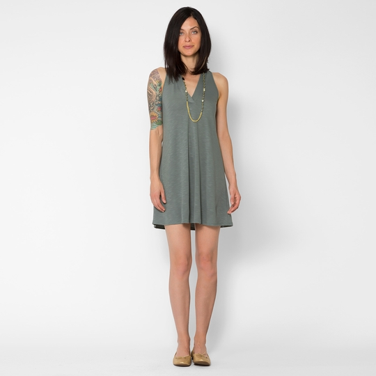 Lanston V Racerback Mini Dress ( Moss )