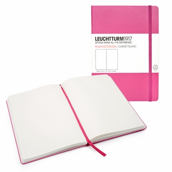 Leuchtturm1917 Large Hard Cover Plain Notebook (5.75 x 8.25) in Pink