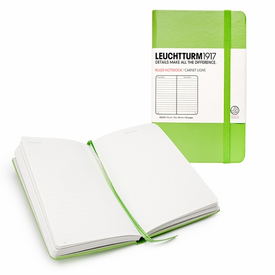 Leuchtturm1917 Pocket Hard Cover Notebook (3.5 x 6) ( Green )