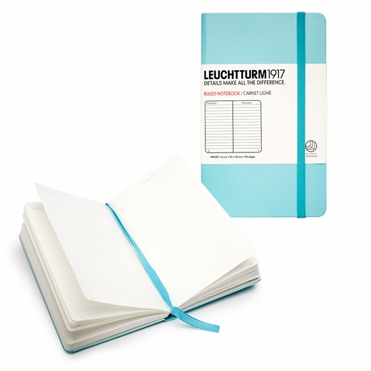 Leuchtturm1917 Pocket Hard Cover Notebook (3.5 x 6) ( Light Blue )