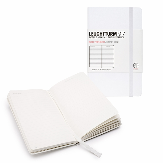 Leuchtturm1917 Pocket Hard Cover Notebook (3.5 x 6) ( White )