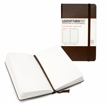 Leuchtturm1917 Pocket Hard Cover Notebook (3.5 x 6) in Dark Brown