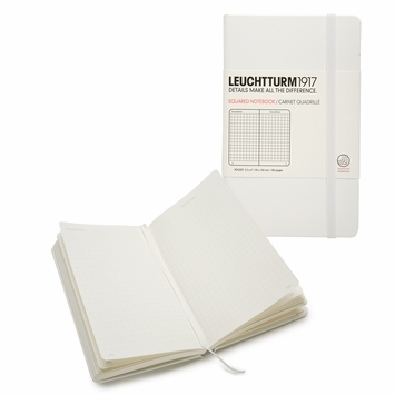 Leuchtturm1917 Pocket Hard Cover Squared Notebook (3.5 x 6) in White