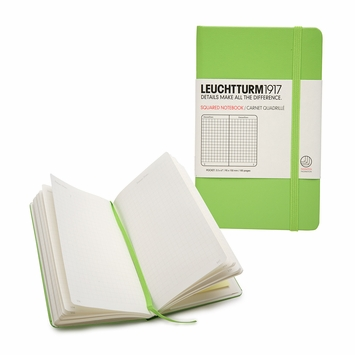 Leuchtturm1917 Pocket Hard Cover Squared Notebook (3.5 x 6) in Green