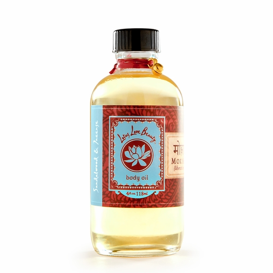 Lotus Love Beauty Bath and Body Oil ( Moksha (Sandalwood & Incense) )