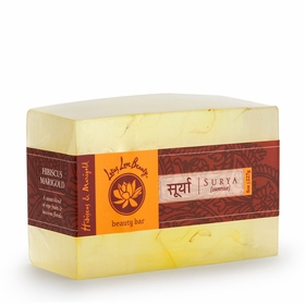 Lotus Love Beauty Glycerin Bar Soap in Surya (Hibiscus & Marigold)