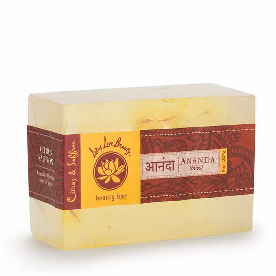 Lotus Love Beauty Glycerin Bar Soap ( Ananda (Citrus & Saffron) )