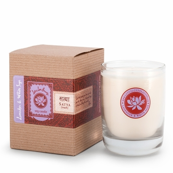 Lotus Love Beauty Kalava Soy Candle in Satya (Lavender & Sage)