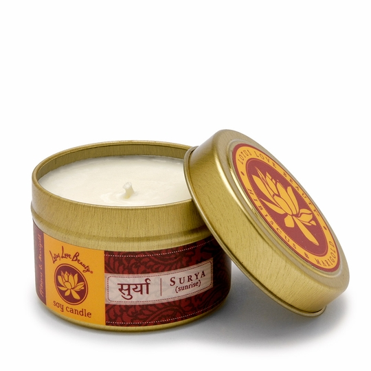 Lotus Love Beauty Soy Candle Tin ( Surya (Hibiscus & Marigold) )