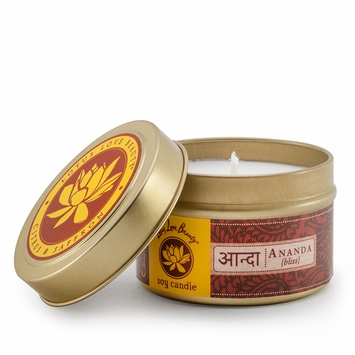 Lotus Love Beauty Soy Candle Tin in Ananda (Citrus & Saffron)