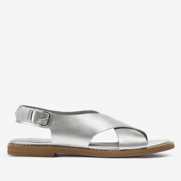 Matt & Nat Criss Cross Strap Sandal in Silver
