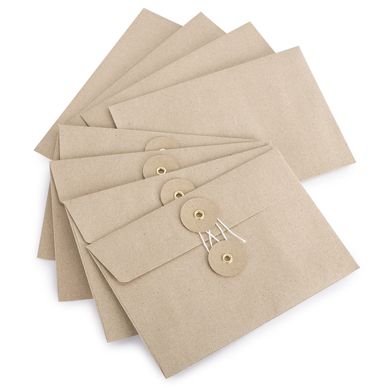 Midori Medium Kraft Envelope With String Closure 4 5 X 6