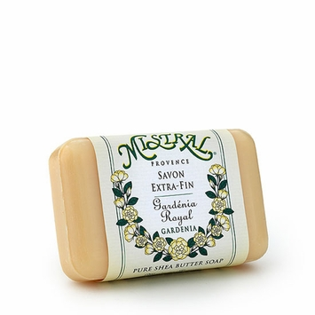 Mistral French Milled Shea Butter & Olive Oil Soap in Gardenia