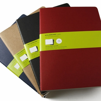 Moleskine Cahier Extra Large Plain Notebook (set of 3) (7.5 x 10)