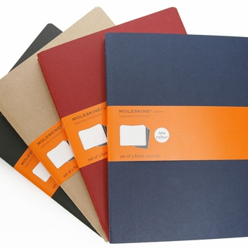 Moleskine Cahier Extra Large Ruled Notebook (set of 3) (7.5 x 10)