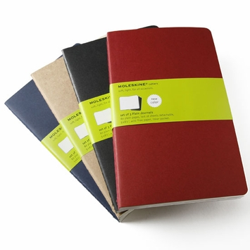 Moleskine Cahier Large Plain Notebook (set of 3) (5 x 8.25)