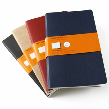 Moleskine Cahier Large Ruled Notebook (set of 3) (5 x 8.25)