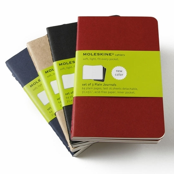 Moleskine Cahier Pocket Plain Notebook (set of 3) (3.5 x 5.5)
