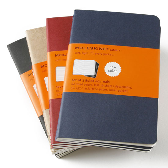 Moleskine Cahier Pocket Ruled Notebook Set Of 3 3 5 X 5