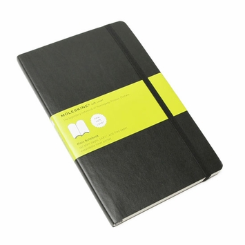Moleskine Classic Large Soft Cover Plain Notebook (5 x 8.25)